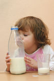 Kids should drink milk Stock Photo