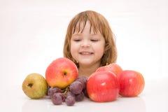 Kids Should Eat Fruits! Stock Images