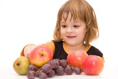 Kids should eat fruits! Royalty Free Stock Photography