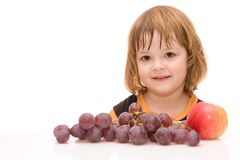 Kids should eat fruits! Royalty Free Stock Image