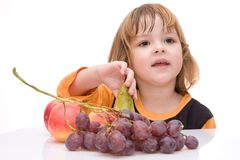 Kids should eat fruits! Royalty Free Stock Photos