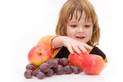 Kids should eat fruits! Stock Photos
