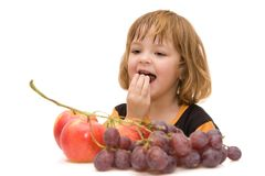 Kids Should Eat Fruits! Stock Photography
