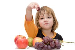 Kids should eat fruits! Stock Image