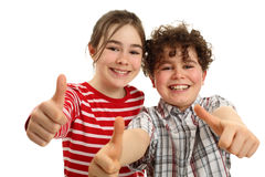 Kids showing OK! Stock Photography