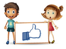 Kids showing thumb picture Stock Images