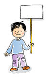 Kids sign Stock Photography