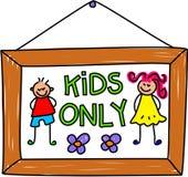 Kids sign royalty free illustration