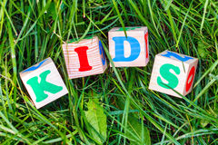KIDS sign Royalty Free Stock Images