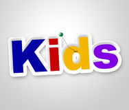 Kids Sign Represents Message Advertisement And Childhood. Kids Sign Meaning Youths Children And Youth Stock Photography