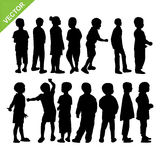 Kids Silhouette Vector Stock Photography