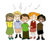 Kids Singing Stock Photos