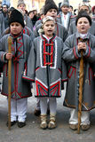 Kids singing carols in an annual competition royalty free stock images