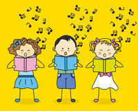 Kids singing Royalty Free Stock Photos
