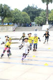Kids skating Stock Photo
