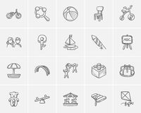 Kids sketch icon set. Royalty Free Stock Photography