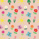 Kids sketch seamless pattern Stock Images