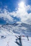 Kids ski lift. Royalty Free Stock Photos