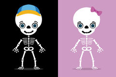 Kids skull Stock Images