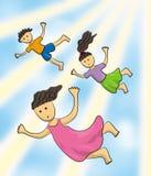 Kids of the sky Stock Photo