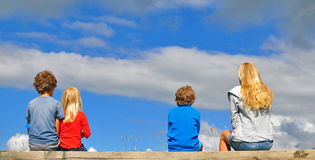 Kids in the sky Stock Photos