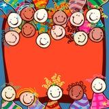 Kids smiling royalty free illustration