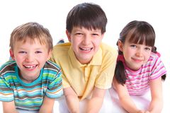 Kids smiling Stock Photos