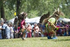 Kids smoke dancing. Native American kids smoke dancing at Kahnawake POW WOW Royalty Free Stock Photos