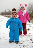 Kids in the snow Royalty Free Stock Photo