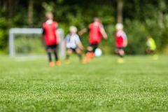 Kids soccer blur Royalty Free Stock Photography