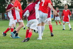 Kids'  soccer Stock Image