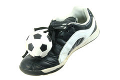 Free Kids Soccer Footwear And Ball Stock Photos - 5521863