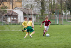 Kids soccer game Royalty Free Stock Photography