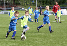 Kids soccer match Stock Images