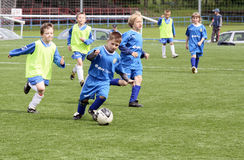 kids soccer match Stock Image