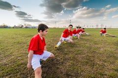 Kids soccer team royalty free stock photo