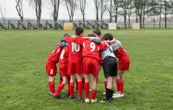 Team huddle Stock Images
