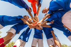 Kids soccer team Stock Images