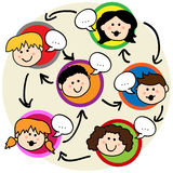 Kids social network Stock Image