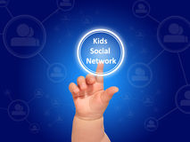 Kids social networks. Stock Photography