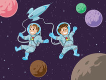 Kids in space Royalty Free Stock Photography