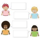 Kids speech Stock Photo