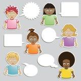 Kids speech stock illustration