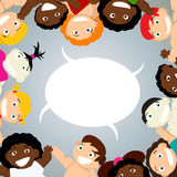 Kids with speech bubble Royalty Free Stock Photo