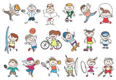 Kids sport activity vector Stock Photography