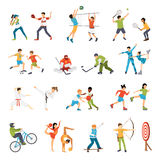 Kids Sport Icons Set Stock Photography