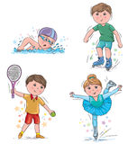 Kids sport 2 Stock Images