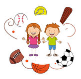 Kids sports Stock Image
