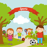Kids sports Royalty Free Stock Images