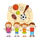 Kids sports Stock Photography